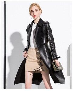 Image 3 - AYUNSUE, 100% натуральная овечья шерсть, пальто для женщин, уличная одежда, длинные пуховики, осенне зимняя куртка, женские Куртки из натуральной кожи, MY3731