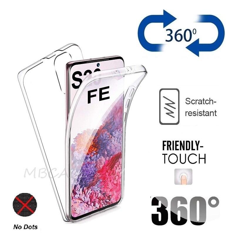 Силиконовый чехол с полным покрытием для Samsung S20 FE S21 Plus M51 M31S M01 Core Note 20 Ultra S10 Note10 Lite S9 S8 Plus M11 M21 M30S, 360