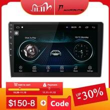 "AMPrime 10.1 ""רכב נגן מולטימדיה 2 דין אנדרואיד רכב סטריאו רדיו Bluetooth WIFI אודיו Mirrorlink MP5 נגן עם אחורי מצלמה"