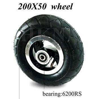 Neumático de rueda para patinete eléctrico Razor E100, E150, E200, Espark, Crazy Cart, piezas de rueda delantera de 8 pulgadas, 200x50