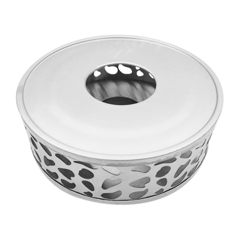 Stainless Steel Tea Warmer, Round Tea Maker Candle Base, Tea Warmer Heater Tea Stand (Without Candles)