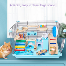 Hamster Cage 47cm Iron Basic Cage Suit Golden Bear Villa Three Layer Luxury Nest Guinea Pig Accessories Small Animal Cage