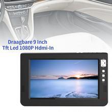 9 pouces 16:9 Portable télévision USB universel TFT DVBT2 numérique analogique TV maison voiture Led Mini HD noir soutien 1080p avion