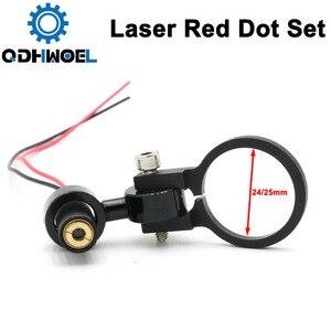 Módulo de diodo ponto vermelho conjunto posicionamento dc 5 v para diy co2 gravação a laser cabeça corte