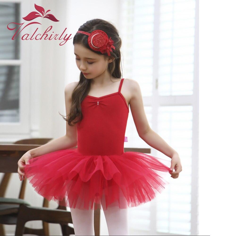 New Girls Red Ballet Tutu Dress Dance Costume Party Dress For Kids