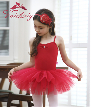 New Girls Red Ballet Tutu Dress Dance Costume Party for Kids - discount item  20% OFF Stage & Dance Wear