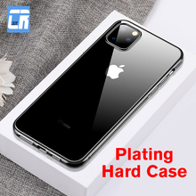 Luxury Plating Phone Case for iPhone 11 Pro XS Max XR Shockproof Hard Back Cover for iPhone X 6 6s 7 8 Plus Protective Case Capa phone case for iphone 11 pro max shockproof plating clear tpu back cover for iphone 6 6s 8 7 plus x xr xs max 11 pro max fundas