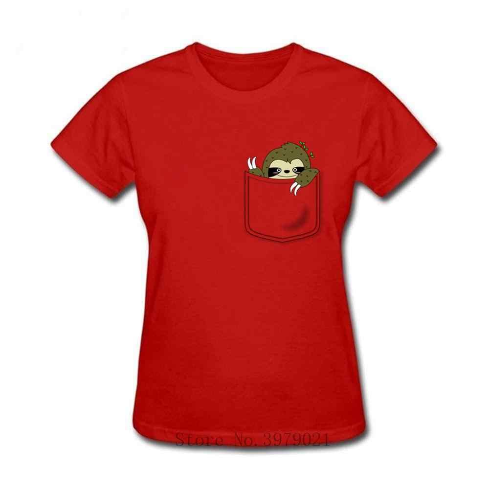Kawaii engraçado camiseta mulheres Origami preguiça Preguiça no meu bolso t-shirt do coração do amor vestido de festa tshirt Camiseta harajuku homme