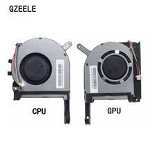 Novo refrigerador do ventilador de refrigeração da cpu gpu para asus fx705 fx705g fx705gm fx86 fx86sm fx505 fx505d fx505du ventilador de refrigeração portátil 17.3
