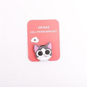 Image 5 - מחזיק טלפון סלולרי אוניברסלי חמוד 3D בעלי החיים חתול מגוון אוויר תיק Smartphone הרחבת גריפ Stand אצבע טבעת מחזיק Soporte סלולרי
