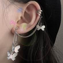 Brincos de argola borboleta goth e para meninas, acessórios modernos para aros 90s, estética, joias de gancho