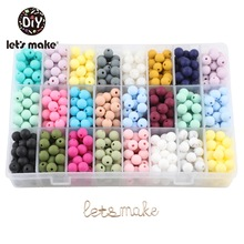 Beads Necklace Sensory-Toys Silicone Teether Let's-Make Rodent Diy 9mm for Baby 30pc