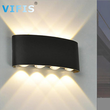 Waterproof IP65 LED wall lamp for bathroom outdoor indoor up and down wall lights for Home Stairs Bedroom Bedside Light Black