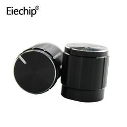 Alta calidad pomo de aleación de aluminio de 15x16,5mm medio eje 6mm control de volumen para potenciómetro giratorio codificador módulo interruptor
