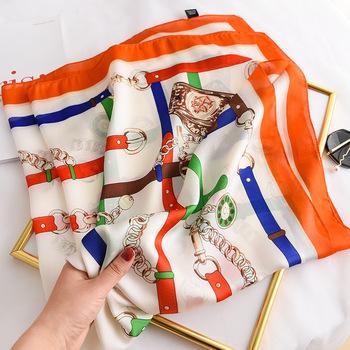 Wiosna lato jedwabny szal hidżab okłady pani luksusowe drukowane kwadratowe chustki moda chustka chustka szale i okłady 2021 nowy tanie i dobre opinie jane deiune POLIESTER CASUAL CN (pochodzenie) WOMEN Cztery pory roku Scarf Drukuj Dekoracji Dla osób dorosłych H-48 Szaliki