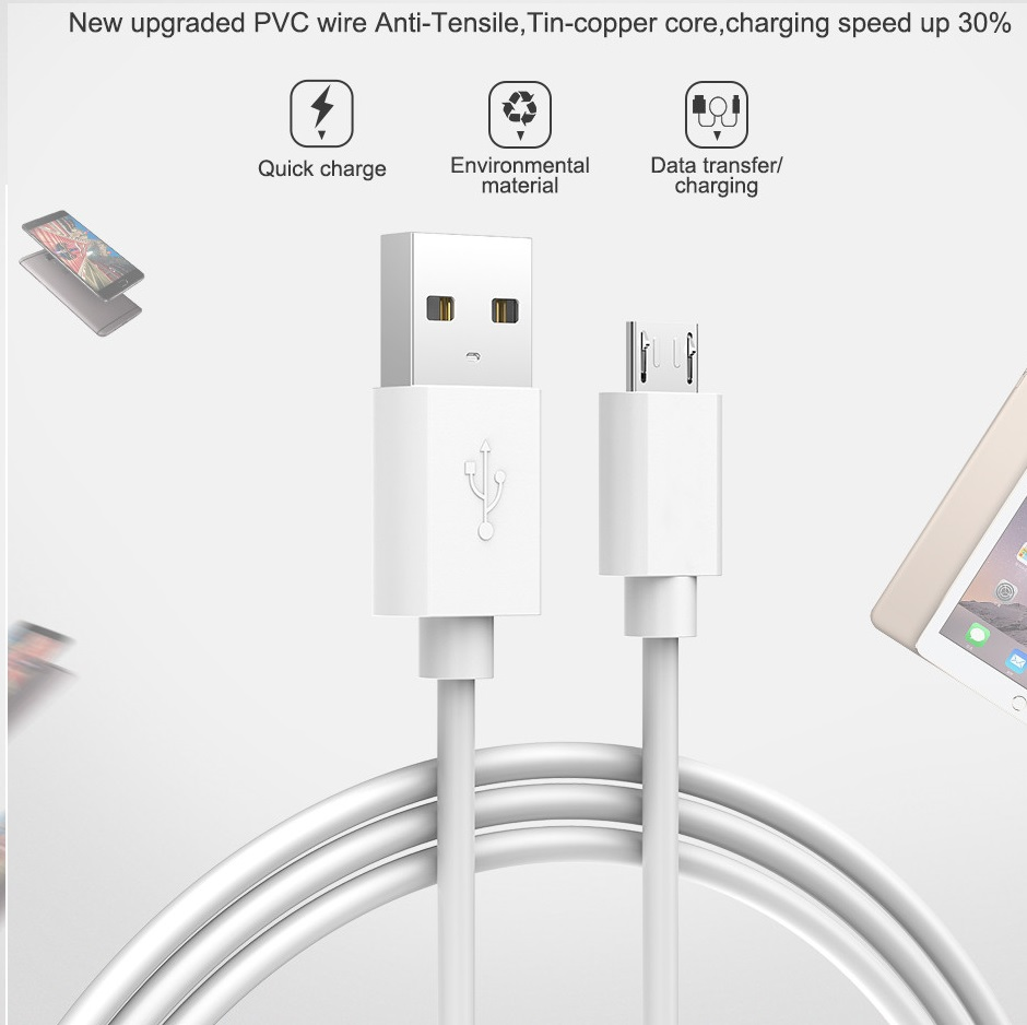Micro <font><b>USB</b></font> Data Cable 2A Fast Charging Mobile Phone Cable for Huawei <font><b>Honor</b></font> <font><b>9</b></font> 8 <font><b>Lite</b></font> 9i 8X Max 7 7C 7A image