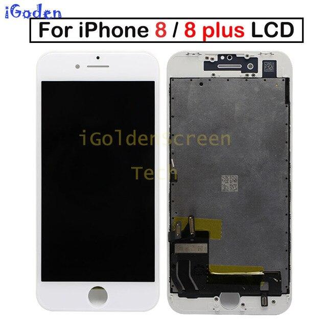 100% נבדק מקורי OEM הטוב ביותר באיכות LCD עבור iPhone 8G 8 בתוספת 8 P 8 + LCD תצוגת מגע מסך Digitizer עצרת החלפה