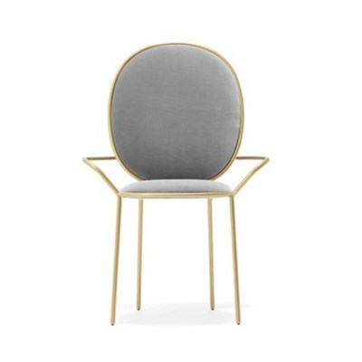 Post Modern Stainless Steel Dining Chair, Iron Art Dining Chair, Modern Simple Upholstery, Backrest, Net Red Furniture, Dresser