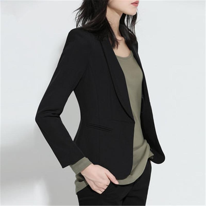 Spring Autumn Black Formal Blazer Feminino Small Suit Female Jacket Long Sleeved Women Blazers And Jackets CJ026
