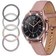 Cadre en diamant pour Samsung Galaxy Watch 3, 41mm, 45mm, coque de Protection, bague en métal antichoc pour Galaxy Watch 42 46mm