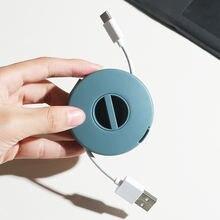 Круглый органайзер для кабеля наушников держатель обмотка шнура