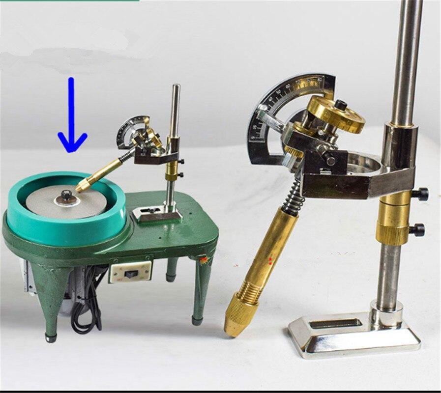 Tools : Gemstone Angle Flat Polishing Copper Manipulator Grinding Machine Height Adjustment Jade Lapidary Faceting Machine With Scale