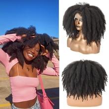 Afro corto ganchillo pelucas delanteras de encaje de pelo con flequillo para las mujeres negras africanos sintético Ombre sin costuras Cosplay peluca Peluca de encaje Felek