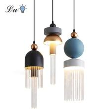 Luster Glass LED Pendant Light Bedroom Living Room Decor Pendant Lamps 90-260V Indoor Lighting Restaurant Hanging Lamp Luminaire