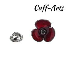 Lapel Pin Red Poppy Lapel Pin Badge Fashion Brooches Novelty Pin Jewelry By Cuffarts P10426