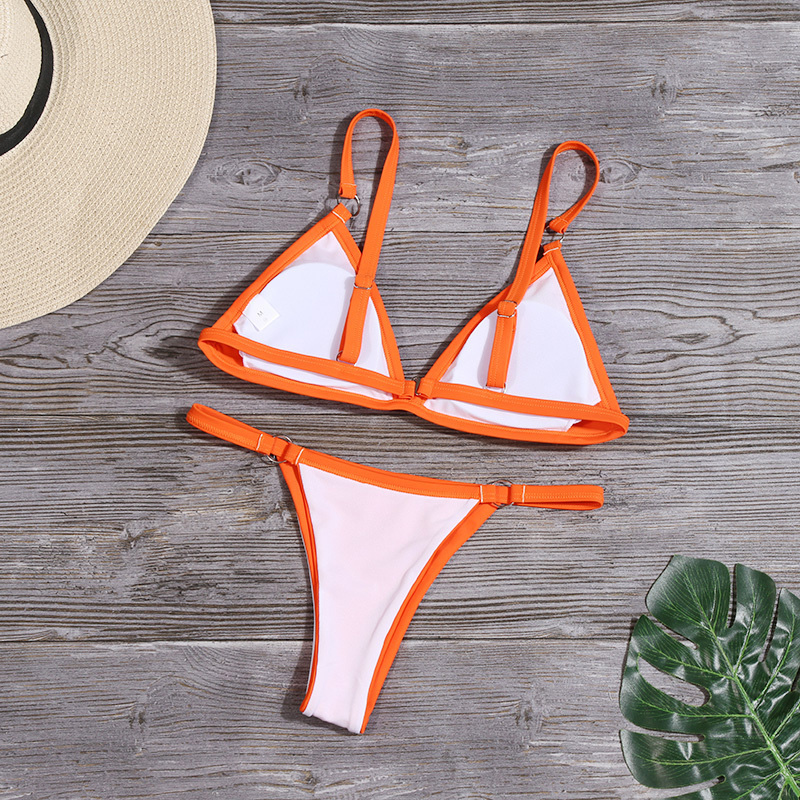 Bikini 2020 New Summer Solid Bikini Set Low Waist Swimwear Women Brazilian Bathing Suit Sexy Swimsuit Female Brazilian Biquini 6