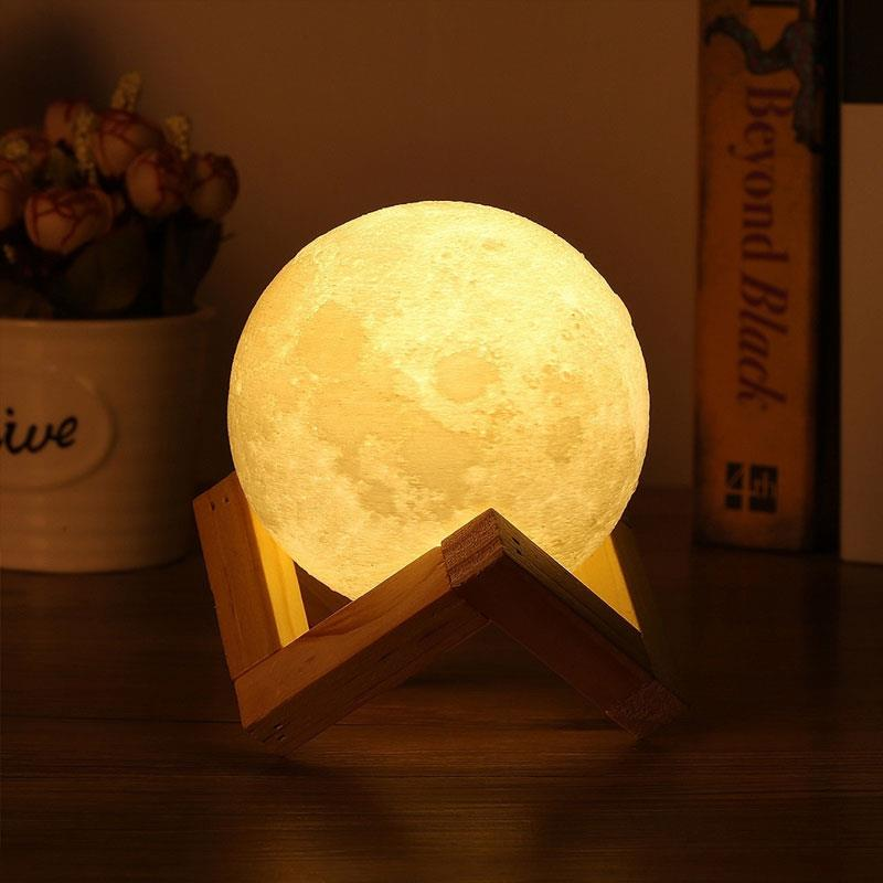 Luminous Moon Light Holder Party Desk Lamp Personality Moon Lamp Bracket Festival Plastic Creative Home Decor Moon Light Shelf