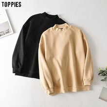 toppies 2020 autumn winter fleece sweatshirts oversized hoodies pullover tops solid color women hoodies