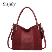 New Fashion Women Real Suede Leather Shoulder Bag Female Leisure Nubuck Convertible Handbag Hobos Messenger Top Handle Bags Sac