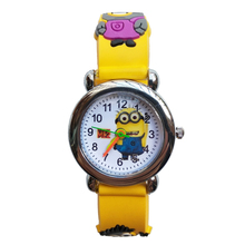 Big Eye Baby toys Children watch Little yellow man Watch students clock Baby kids Quartz Wrist Watches for Girls Boys gift