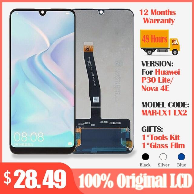 """ЖК дисплей 6,15 """"для Huawei P30 Lite/ Nova 4E, ЖК дисплей с сенсорным экраном и дигитайзером в сборе, ЖК дисплей P30 Lite, запасные части"""