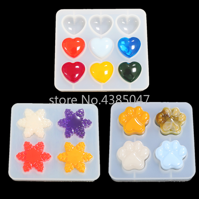 1 PC Heart Claws Snowflower Silicone Resin Epoxy Jewelry Molds For DIY Crafts UV Resin Jewelry Tools