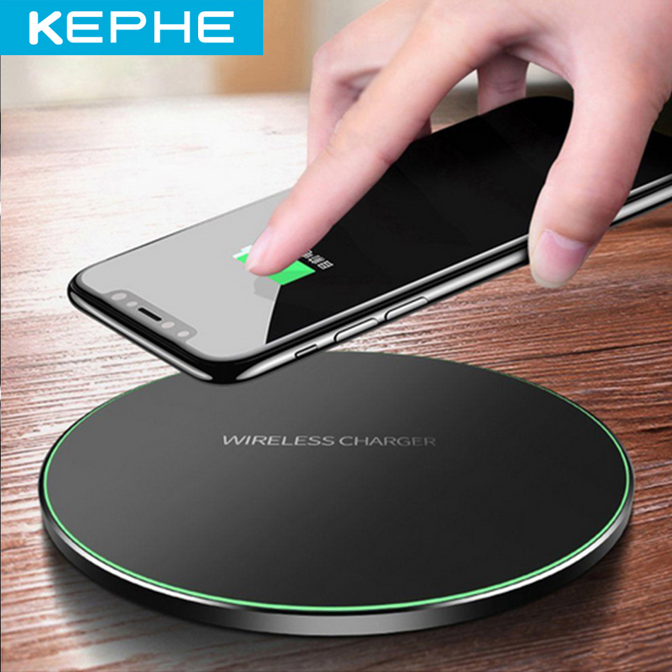 Qi Metal 10W Wireless Charger For iPhone 11 8 X XR XS Max QC3.0 Fast Wireless Charging for Samsung S10 Note 8 9 USB Charger Pad(China)