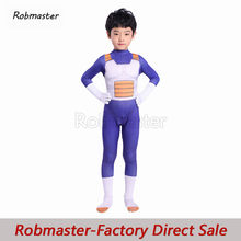 Kinder Jungen Anime Dragon Ball Z Vegeta Cosplay Kostüm Super Saiyan Kampf Uniform Cosplay Handschuhe Kostüm Body für Halloween(China)