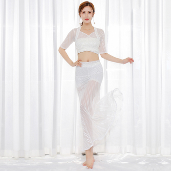 Bellydance Costume Professional White CarnivalClothing Ladies Oriental Dance Costumes Belly Dancing Performance Wear DN5459