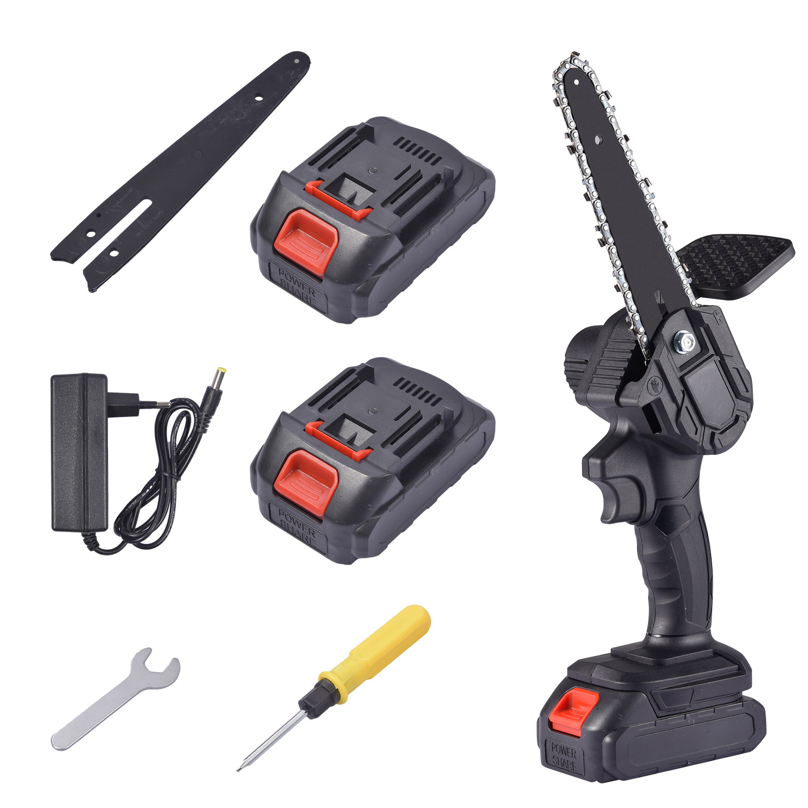 6 Inch Mini Electric Chainsaw Cordless Handheld Pruning Saw Portable Battery Wood Cutter Home Garden Logging Power Tool