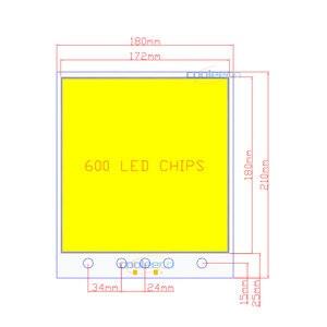 Image 3 - 210x180mm ענק 12V COB LED פנל אור 300W RC Dimmable LED מנורת עבור חיצוני קמפינג מסיבת תאורת בית תפאורה הנורה DIY