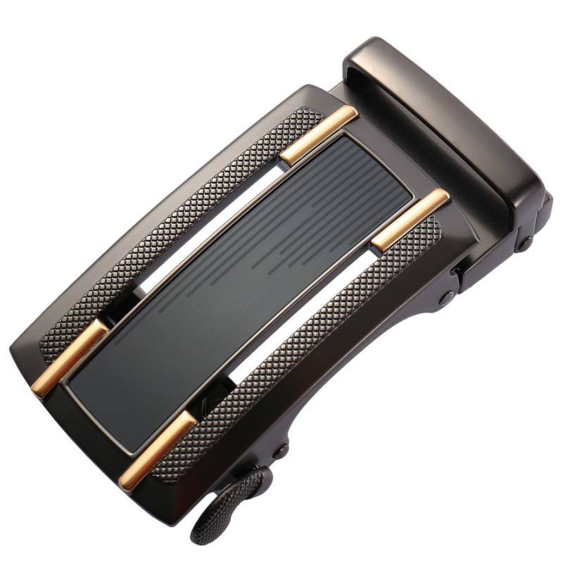 Genuine Men's Belt Head, Belt Buckle, Leisure Belt Head Business Accessories Automatic Buckle Width 3.5CM Luxury LY136-21868