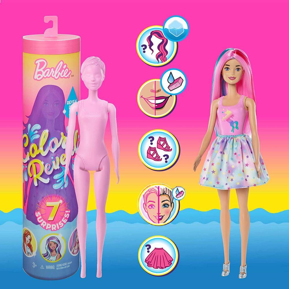 - Original Barbie Color Reveal Doll Magic Accessories Playset Figure