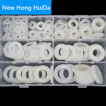 White Nylon Pan Flat Washer Plastic Shim Plain Gasket M5 M6 M8 M10 M12 M14 M16 M18 M20 Assortment Kit Set sale 364pcs set nylon material black nylon rubber flat ring repair washer gasket for metric m2 m8 wholesale quick delivery csv