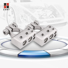 ZXMT New Silver Gold Car Battery Positive Negative Safe Battery Terminal Gauge Electric Connector Accessories 1 pair car silver plated battery terminal set 2 4 8 gauge positive