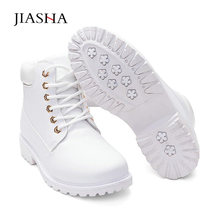 Snow boots women shoes 2020 lace-up winter boots leather wom