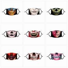 Decoraciones Happy Halloween para la boca, decoración con estampado de Calavera, Horro, fiesta, 2020