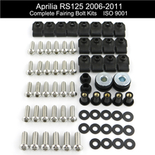 цена на For Aprilia RS125 2006 2007 2008 2009 2010 2011 Motorcycle Complete Full Fairing Bolts Kit Screws Fairing Clips Stainless Steel