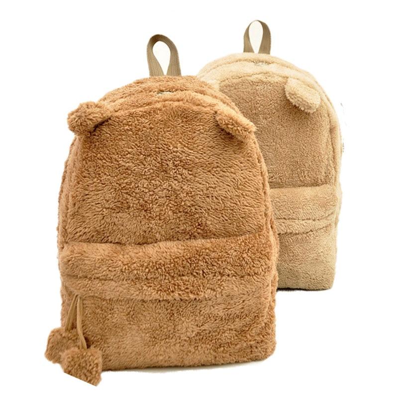 Fashion Women Backpack High Quality Youth Cute Travel Tote Shoulder Plush Rucksack Panda Casual Bag Designer School Backpack