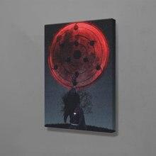 Madara uchiha naruto impressão em tela cartaz anime pintura na parede arte personagem imagens para sala de estar quarto decoração